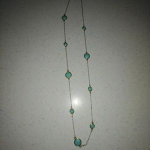 Silver, Gold, and Turquoise Lucky Brand Necklace